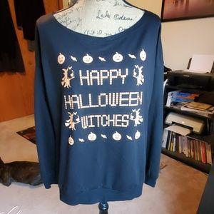 Happy Halloween Witches sweatshirt size XL